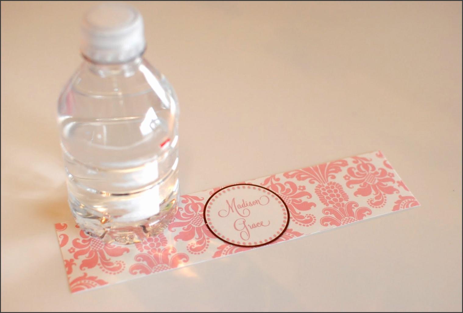 DIY Printable Water Bottle Labels