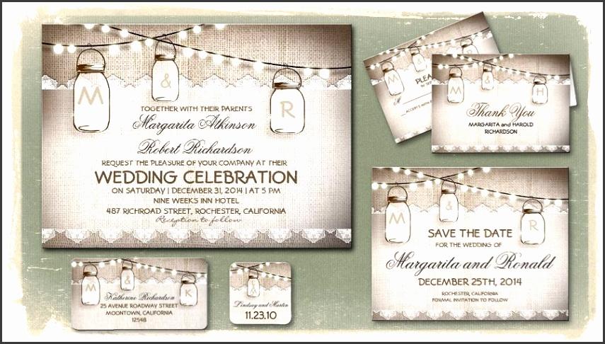 Gallery of the Free Mason Jar Wedding Invitation Printable Templates