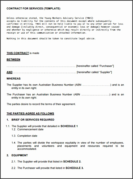 service contract template printable cleaning service contract template format