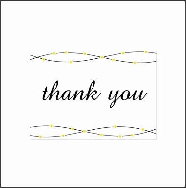 Yellow & Black Thank You Card