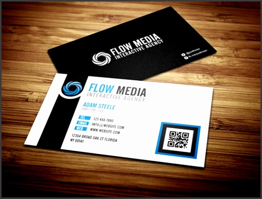 Free PSD Flow Business Cards in 3 Colors