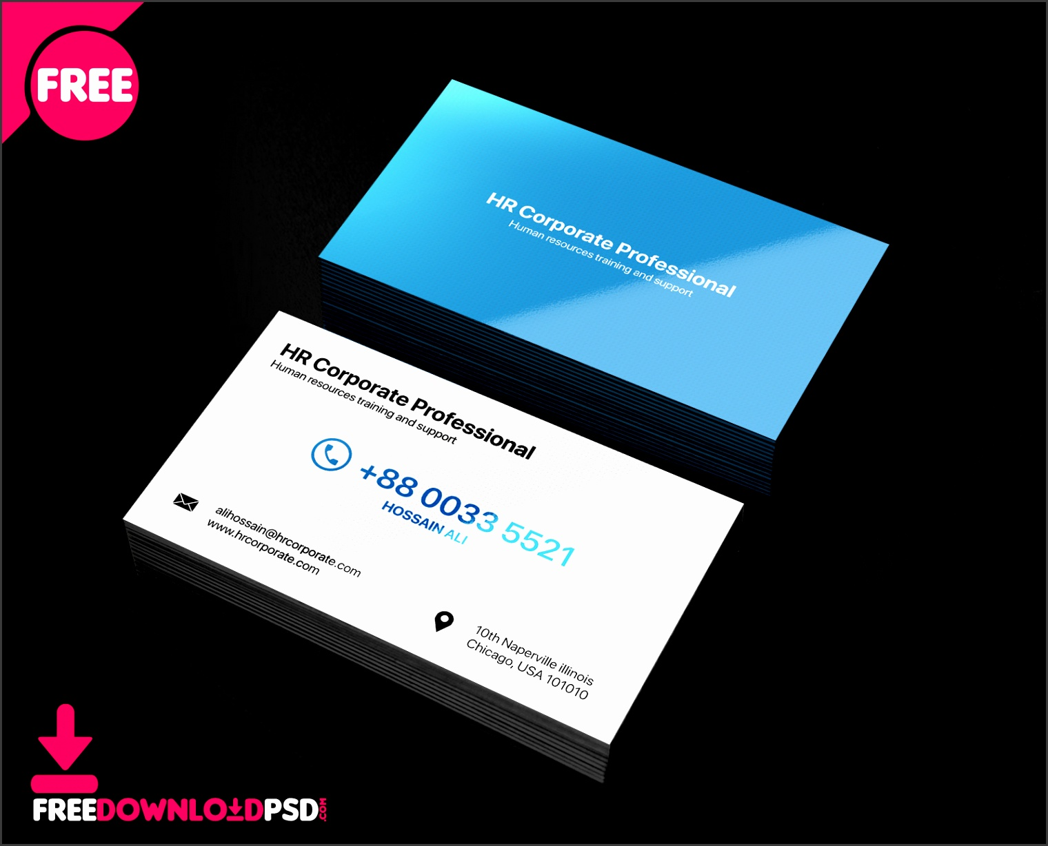 HR business card human resource business card template business cards for human resources professionals