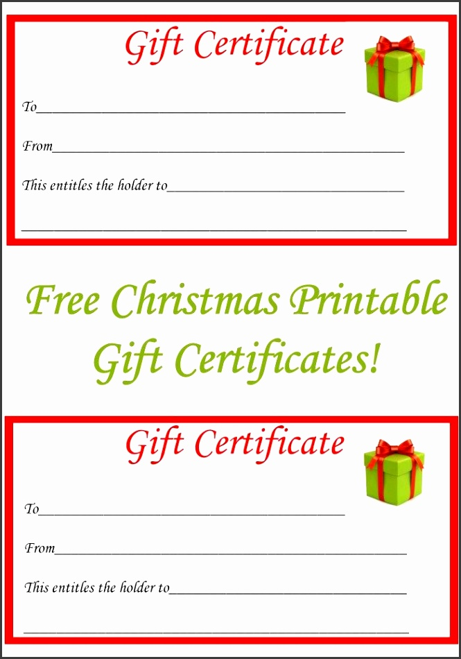 Free Christmas Printable Gift Certificates Free christmas ts t voucher template for word