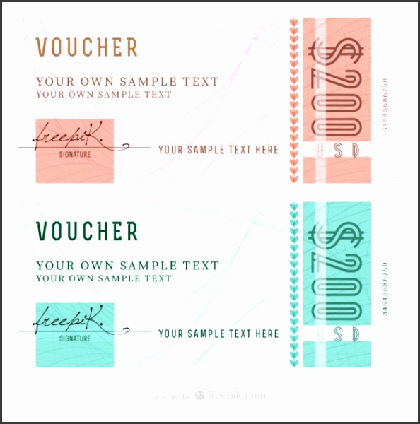 Abstract voucher templates Free Vector