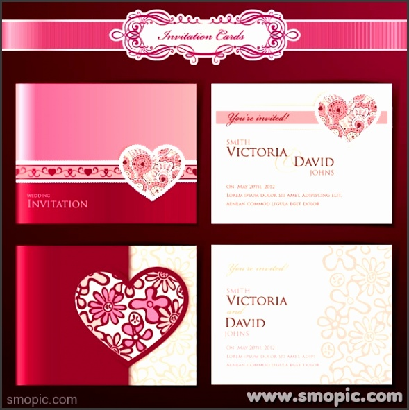 Dream Angels wedding invitation card cover background design template EPS file to
