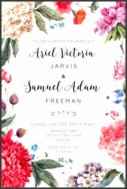 Garden Glory Wedding Invitation Template