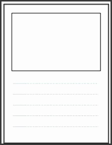 Write and Draw Lined paper with space for story illustrations Free