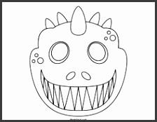 Printable Dinosaur Mask to Color