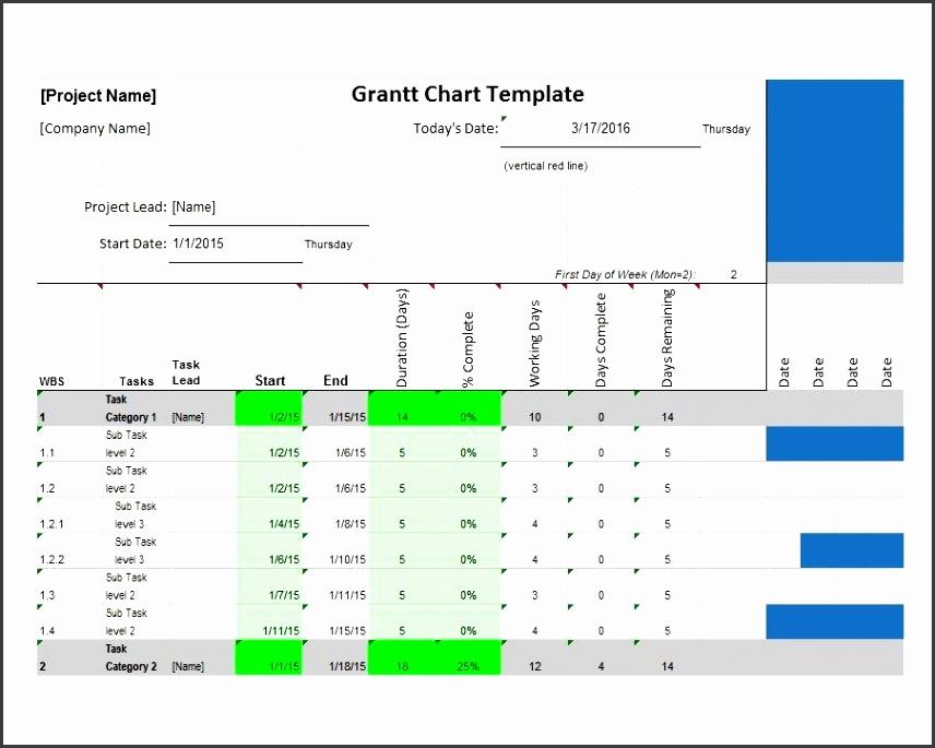 Printable Grantt Chart Template 01