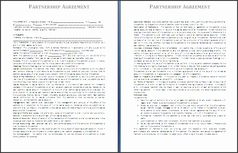 free business partnership agreement template