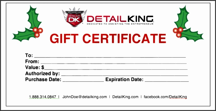 Permalink to Automotive Gift Certificate Template