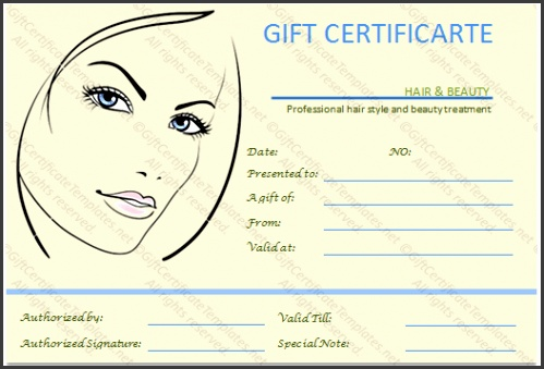 Beauty Gift Vouchers Templates The Simple Beauty Spa Gift Certificate Template