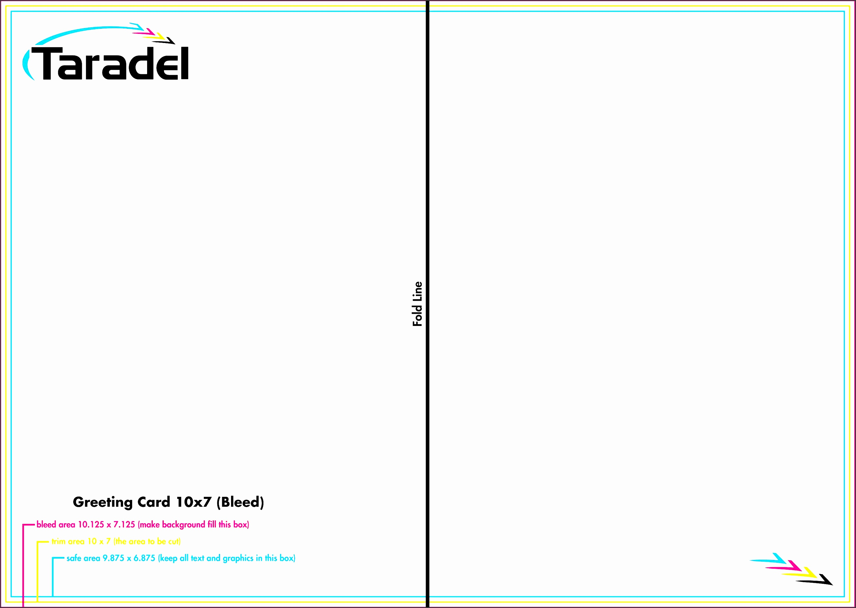 Full Bleedsiness Card Template Cards Greeting Free Blank Greetings Illustrator Indesign Fearsome Bleed Business 10