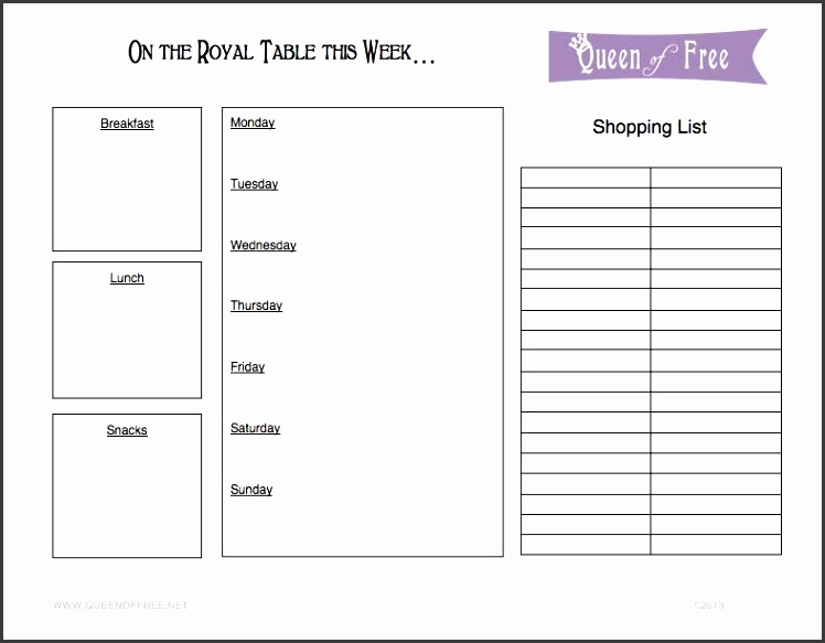 FREE Menu Plan Printable Plus Meal Plan Ideas from thequeenoffree