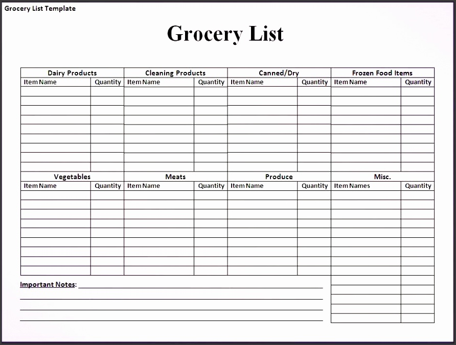 What s More Picture showed above is Grocery Shopping List Spreadsheet Template