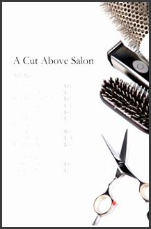 salon menu template