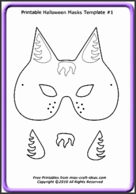 Halloween Mask printables