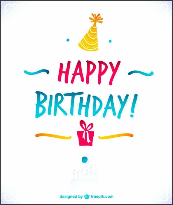Elegant happy birthday card Free Vector