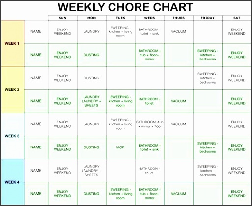 Chore Chart Template i m using and going to make my own