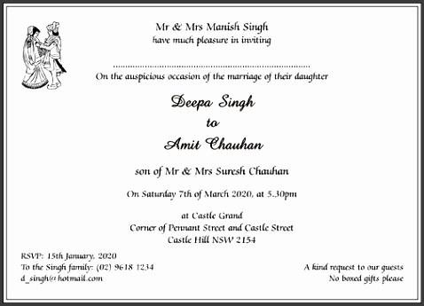 Shadi Card Format Hindu Wedding Cards Wordings Hindu Wedding Invitations Wordings