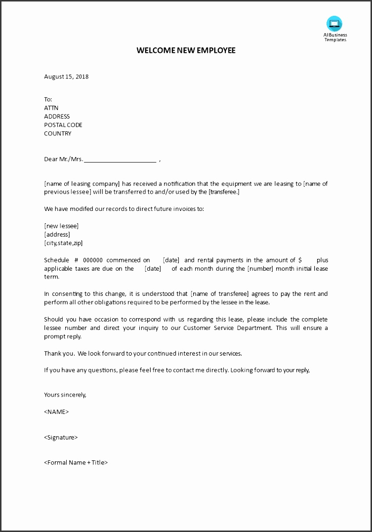 New Leasing pany introduction letter main image Get template