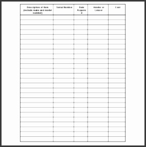 Simple and Easy to Use Inventory List Template Example a part of under Business Templates