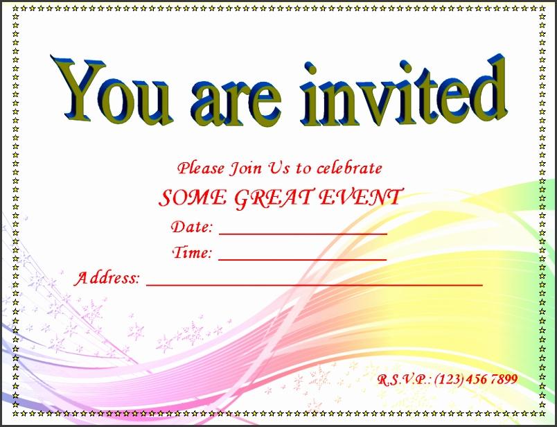 Blank Invitation Templates for Microsoft Word