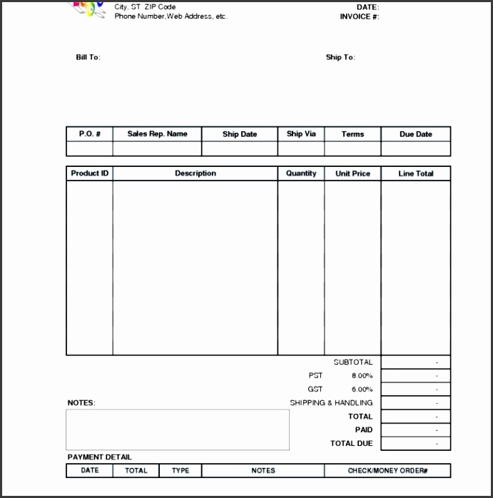 Permalink to Invoice Receipt Template