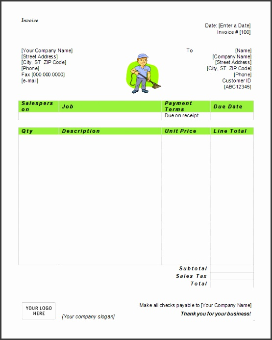 Microsoft Invoice Template 53 Free Word Excel Pdf Free Cleaning Service Invoice Template