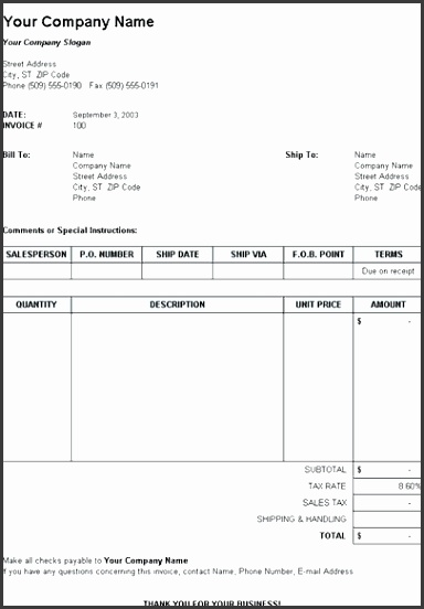 sales invoice template excel free 4