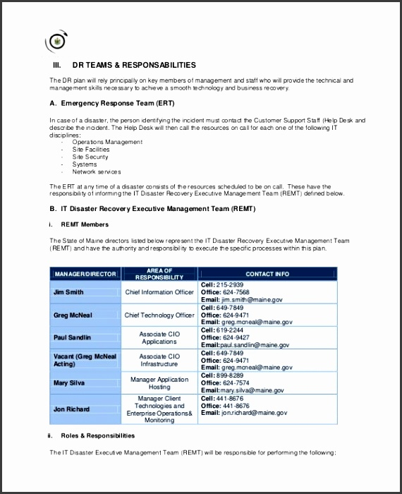 11 Disaster Recovery Plan Templates Free Sample Example in It Disaster Recovery Plan