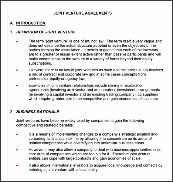 Joint Venture Proposal Template Sample Joint Venture 9 Free Documents In Pdf Word
