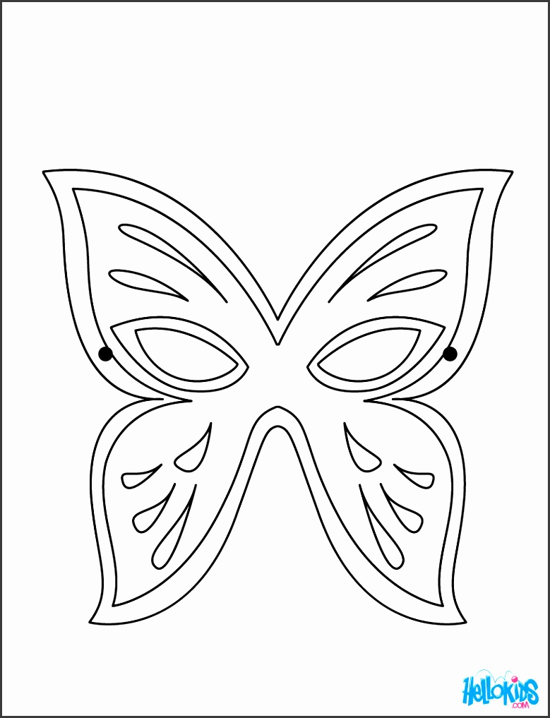 Butterfly Face Painting Application Butterfly Mask coloring page