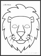 Printable Lion Mask Safari Project