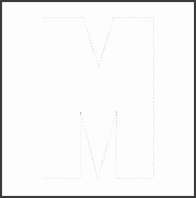 Outline Capital L Free Alphabet template large letters Capital M