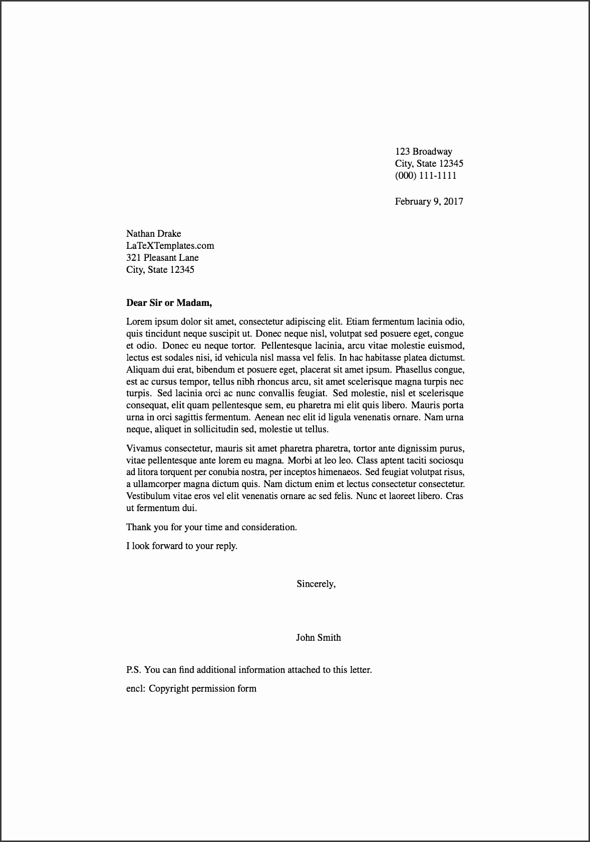 template letter latex templates 187 formal letters with formal letter format