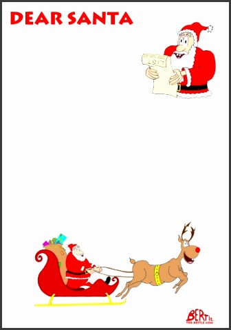 Unique Blank Letter From Santa Template Word Also Letter Santa Claus Border – Merry Christmas Happy New Year Arts