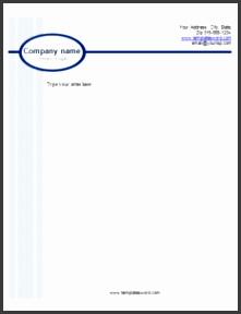 business light blue bar letterhead