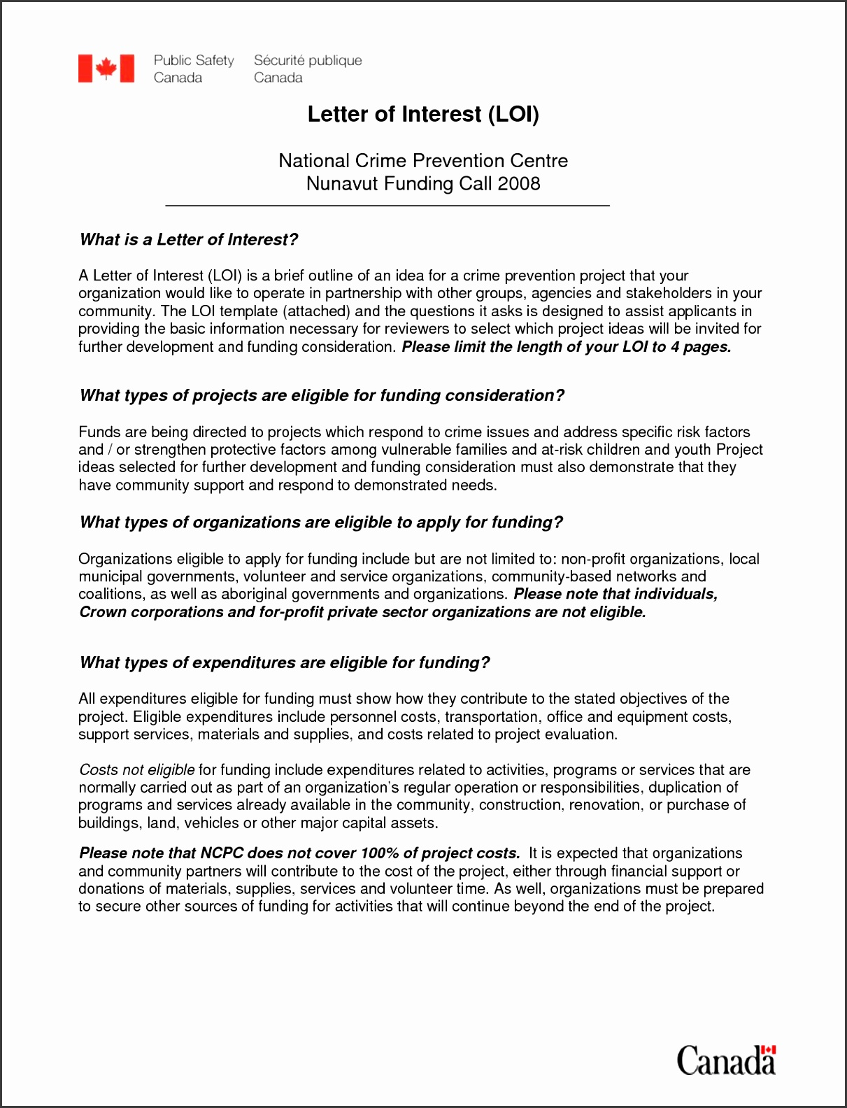 letter of interest format pdf Letter of Interest template