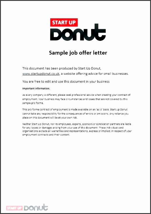 offer of employment letter offer of employment letter job offer letter template startup employment offer letter offer of employment letter