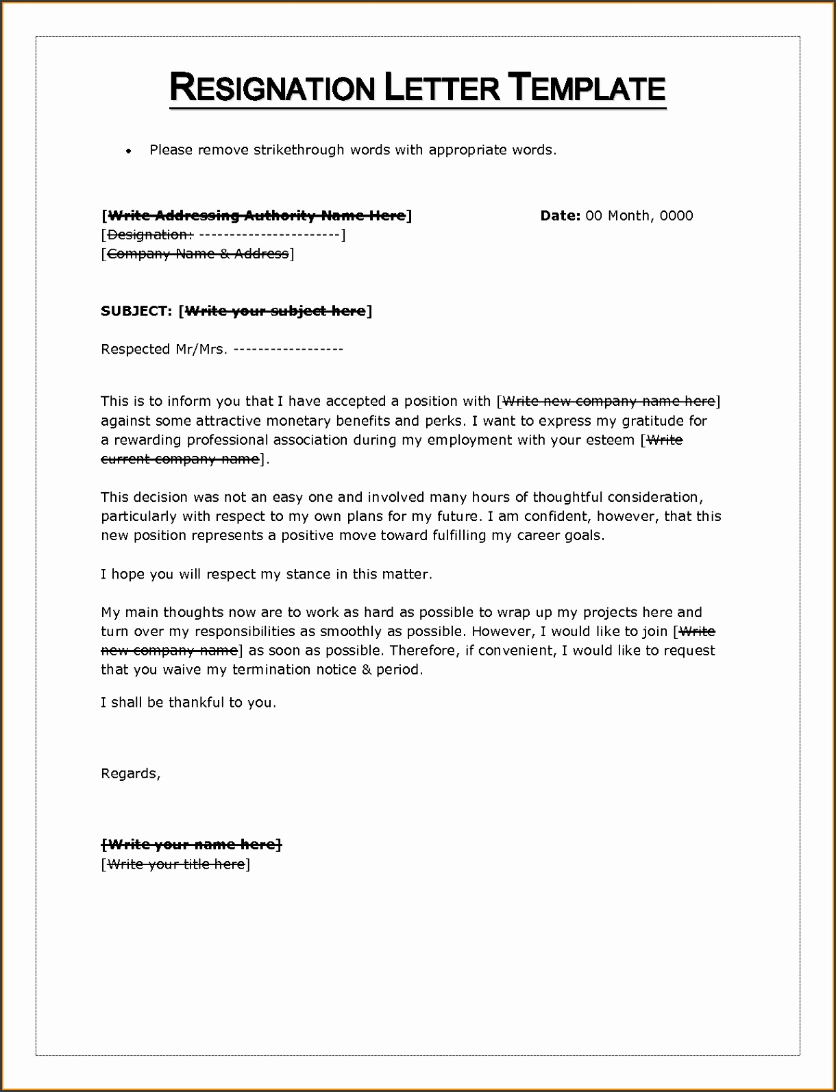 letter of resignation templates word 13 letter of resignation template word letter