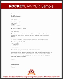 Sample Marriage Certificate Request Letter