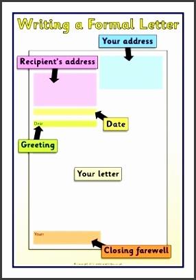 Letter Writing Frames And Printable Page Borders Ks1 & Ks2 in Formal Letter Format For