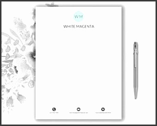 Pattern Letterhead Template Fashionable Design Stationery Download Monogram Editable in Word