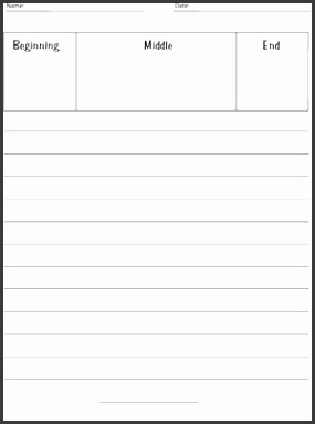 Writing Paper Lines with Story Plan Box Fuel the Brain printable writing paper with