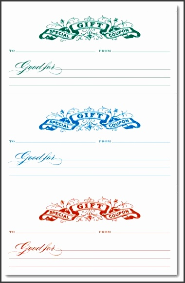 9 make your own gift voucher template