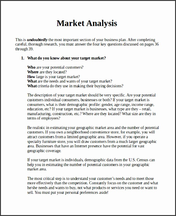 market analysis example