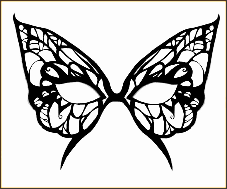 5 masquerade mask template