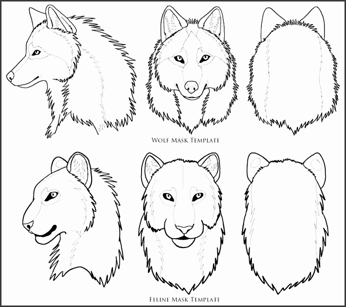 Wolf Face Mask Template