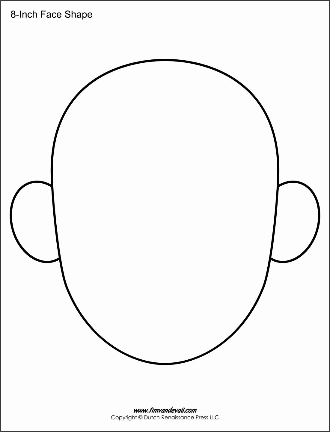 Face Templates Face Shape Printables